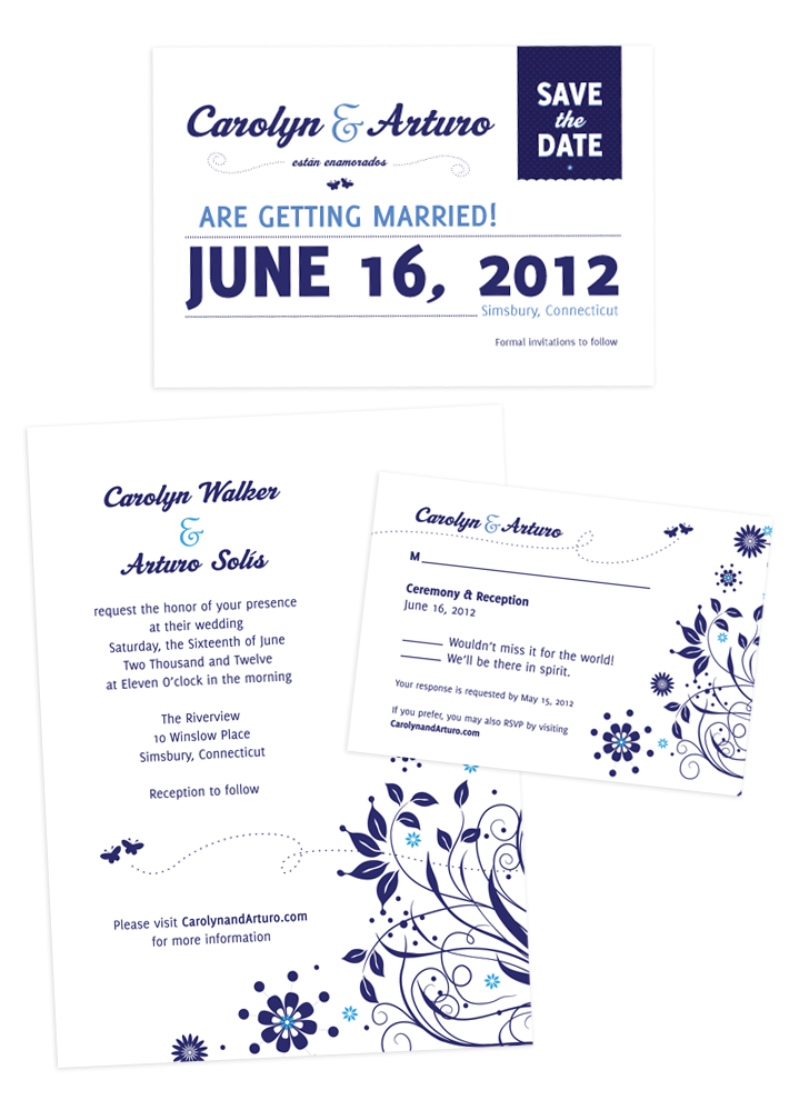 Save the Date, Invite, Response Card