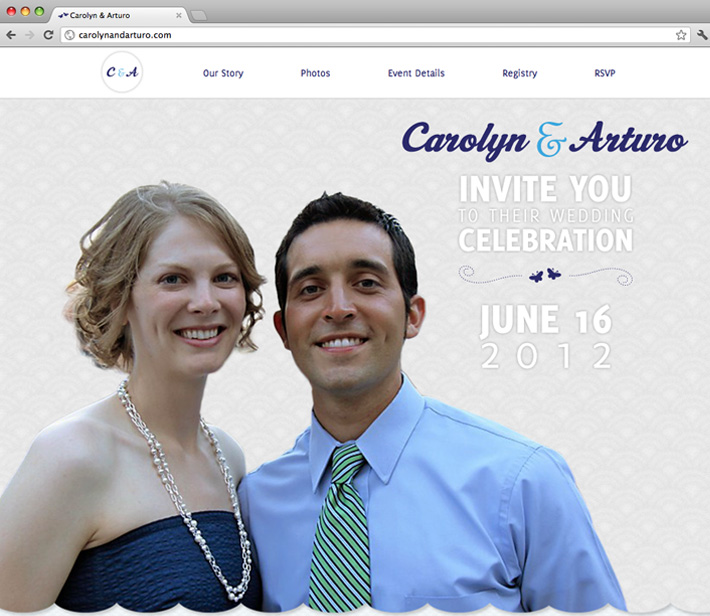 Carolyn & Arturo Wedding Website