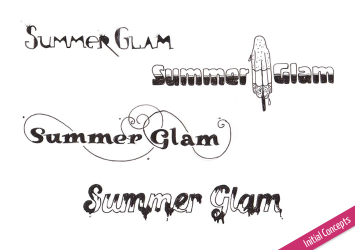 Summer Glam logo concepts