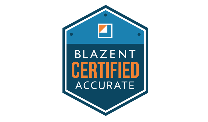 Blazent Certified Accurate