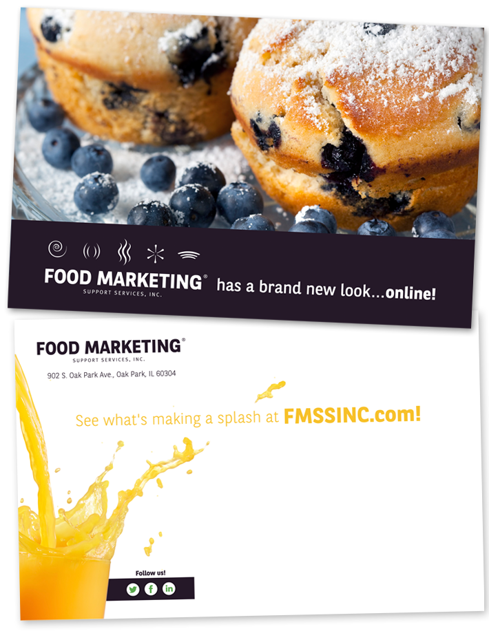 Food Marketing Support Services Announcement Postcard